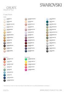 Swarovski Pearl Color Chart