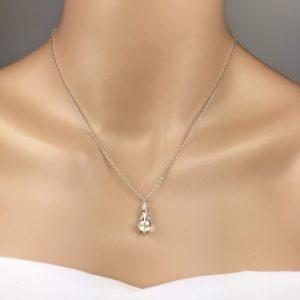 teardrop Swarovski crystal Bridal Necklace