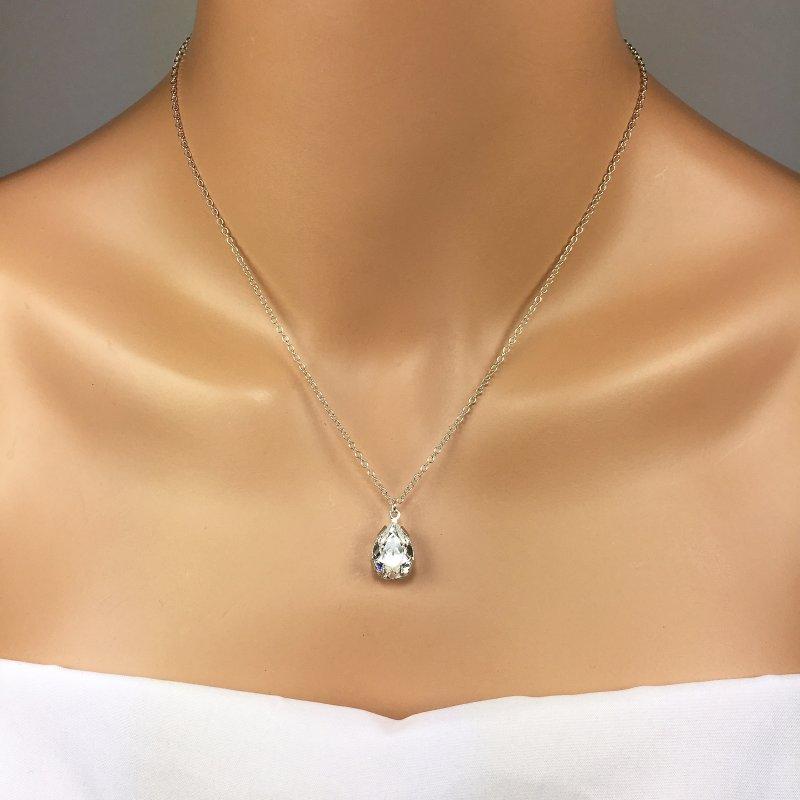 Pear Rhinestone Pendant