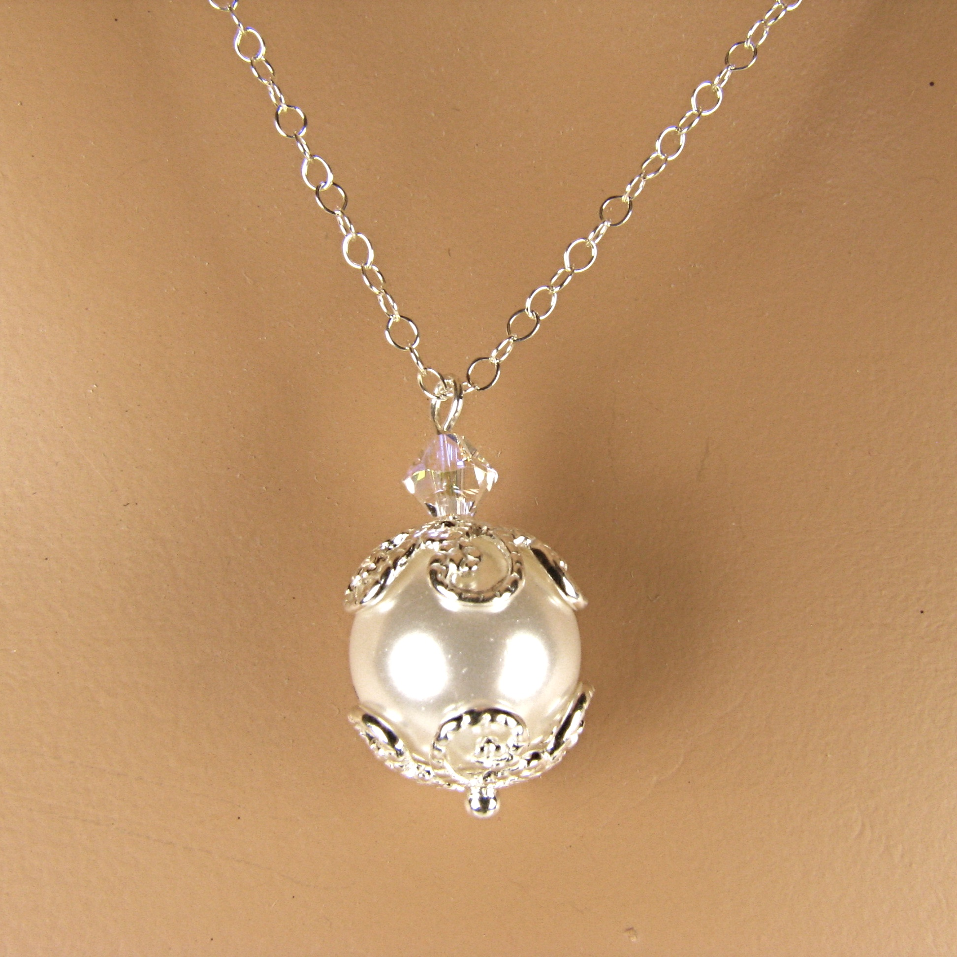 Pearl and Filigree Necklace