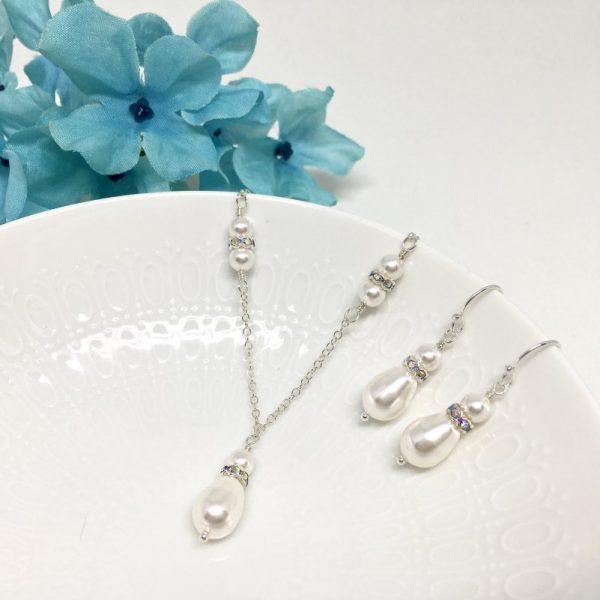 Drop Pearl Bridal Jewelry