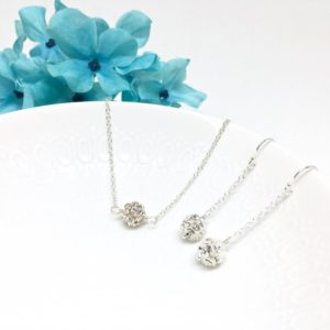 Solitaire Crystal Ball Choker