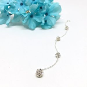 Pave Pendant Necklace Attachment Sterling Silver
