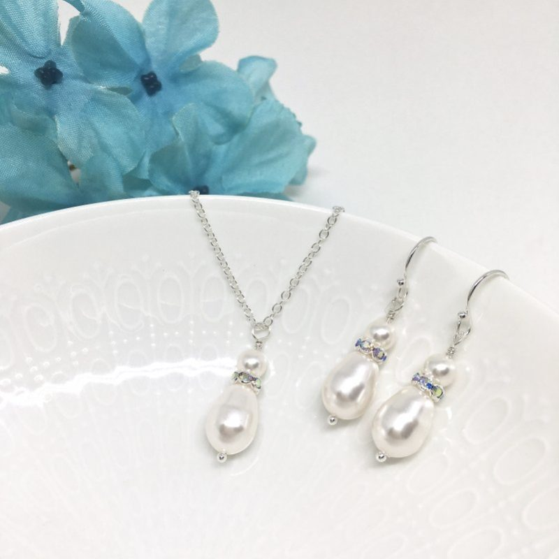 Drop Pearl Bridesmaid Jewelry