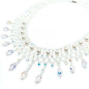 Wedding Collar Necklace Swarovski Teardrop Crystals