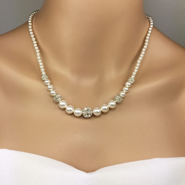 Mother of the Bride Jewelry Sparkly Pearl Bridal Jewelry