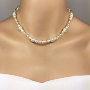 Silver Filigree Pearl Bridal Jewelry