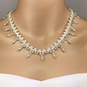Swarovski Beaded Bridal Statement Necklace