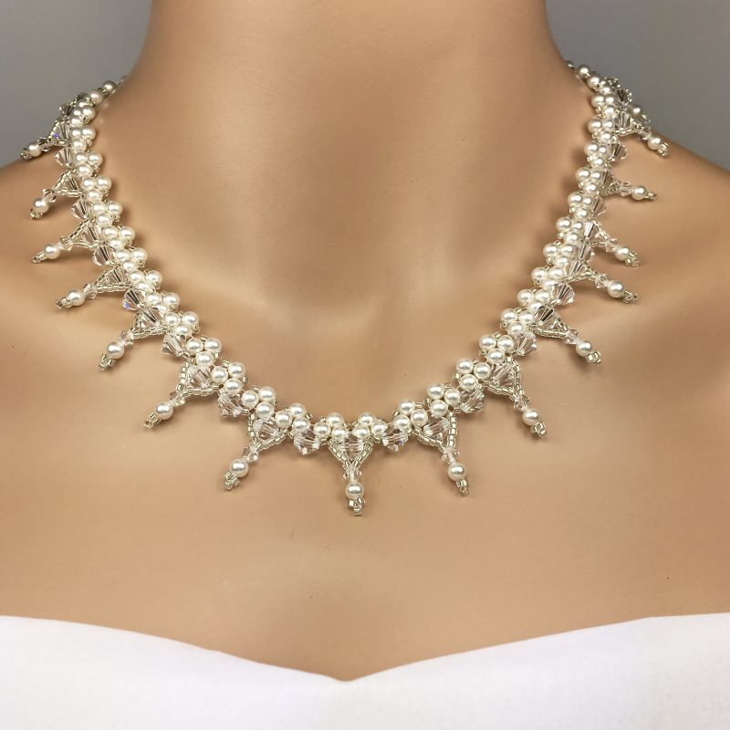 Swarovski Beaded Bridal Statement Necklace