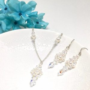 Beaded Cluster Pearl Bridal Jewelry