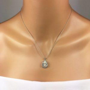 Pear Halo Bridal Jewelry