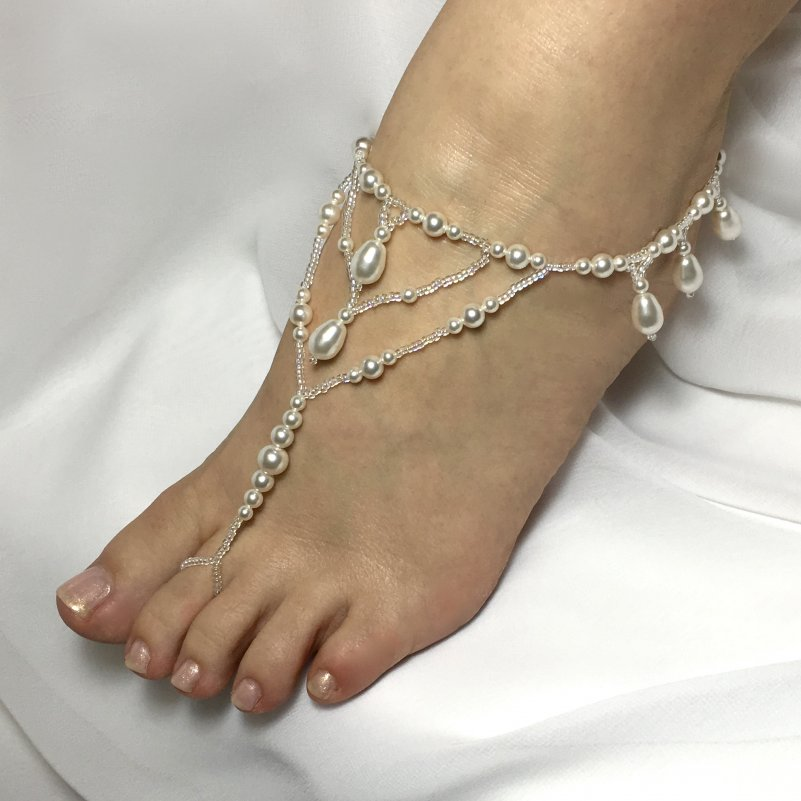 Pearl Beach Wedding Sandals
