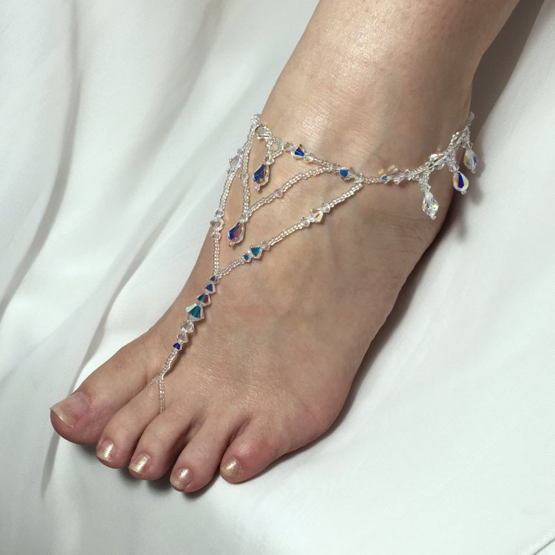 Crystal Beach Wedding Sandals