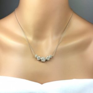 Party Necklace Rhineston Ball Choker Necklace Glam Wedding