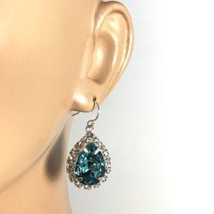 Turquoise Blue Bling Earrings