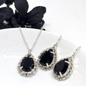 Black Prom Jewelry