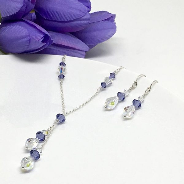 Purple Lariat Back Necklace