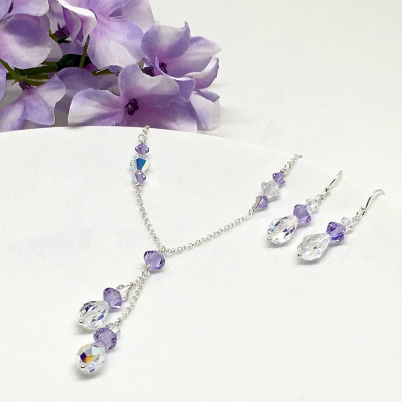 Violet Jewelry Swarovski Crystal Bridesmaid Jewelry