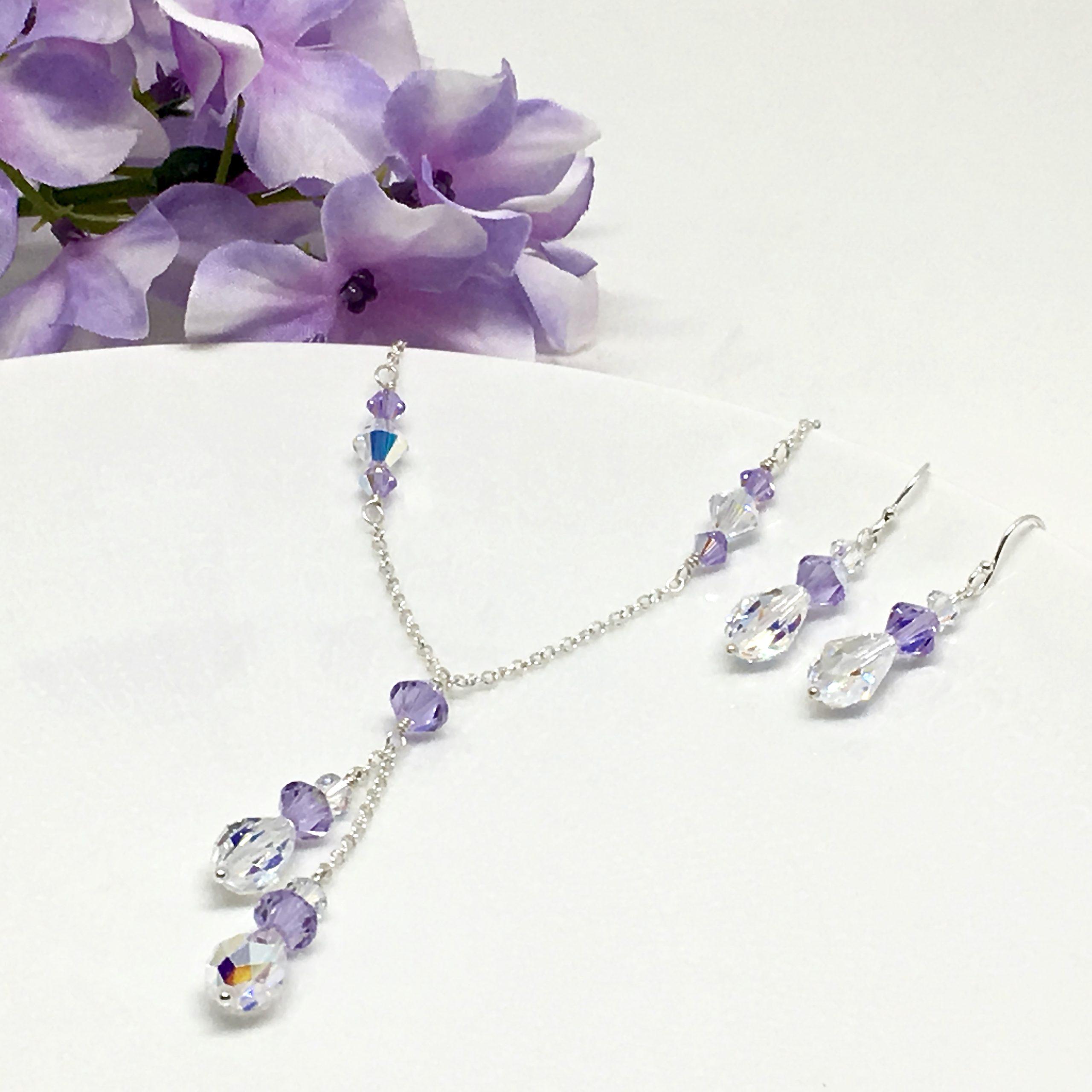 Violet Jewelry Lariat Necklace