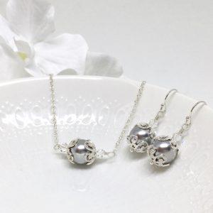 Grey Bridesmaid Jewelry