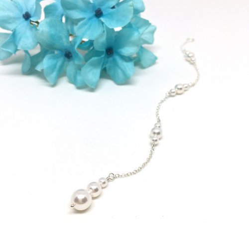 Pearl Bridal Backdrop Necklace Attachment