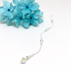 Backdrop necklace extension Crystal Wedding Jewelry Backless Dress Jewelry