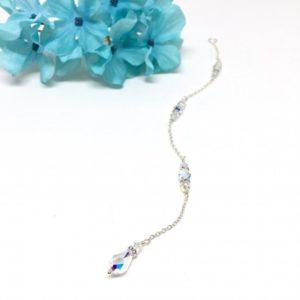 Wedding Dress Back Necklace Teardrop Crystal Back Drop Necklace