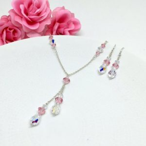 Pink Lariat Necklace