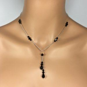 Black Lariat Necklace