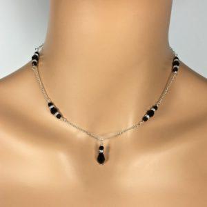 Black Sparkly Bridesmaid Necklace