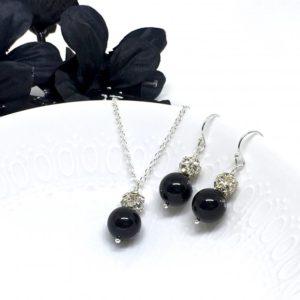 Sparkly Black Bridesmaid Jewelry