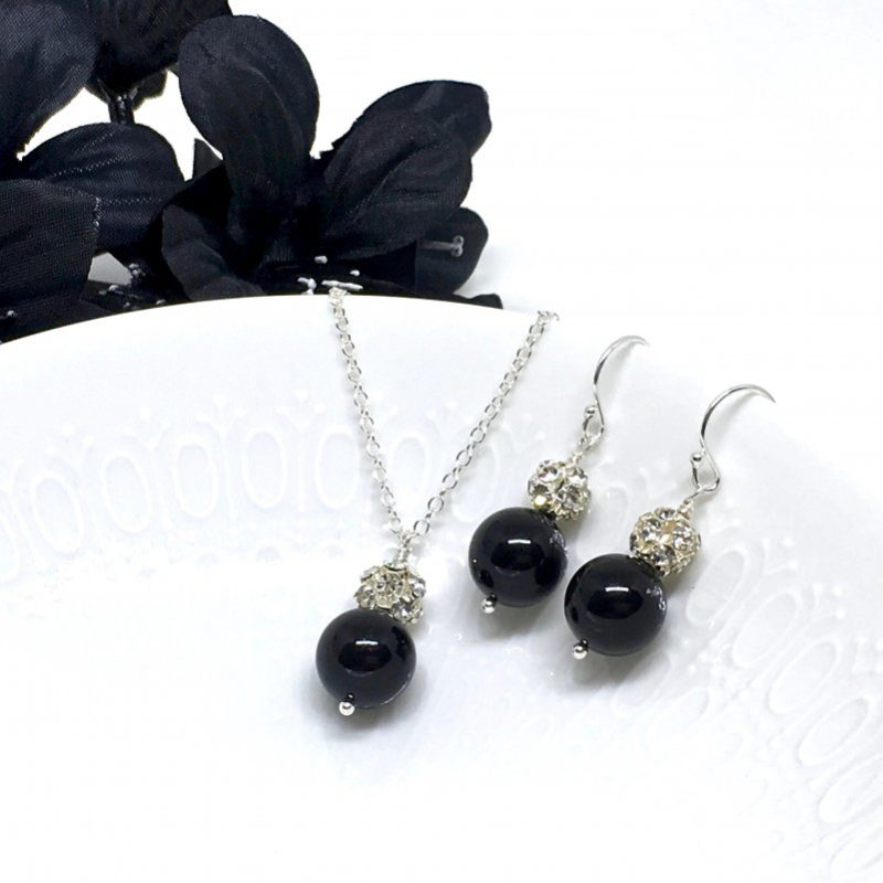 Sparkly Black Bridesmaid Jewelry