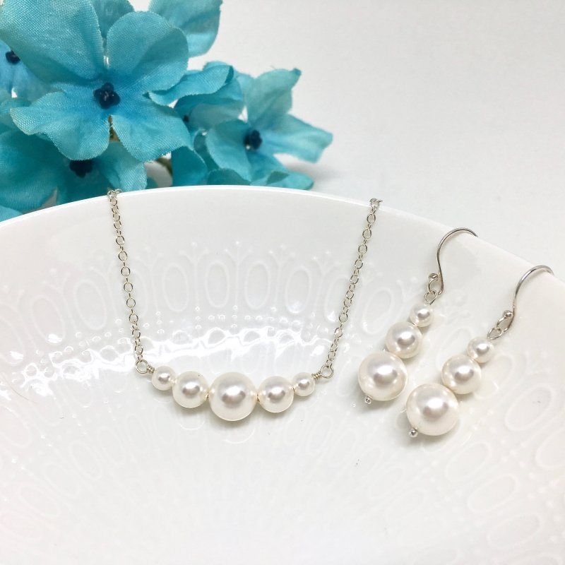 Graduated Pearl Bridal Jewelry