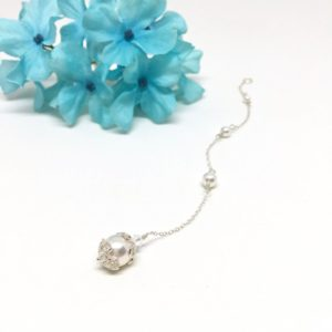 Wedding Dress Back Jewelry Vintage Pearl Necklace Backdrop