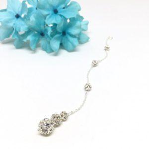 Sparkly Rhinestone Ball Back Necklace