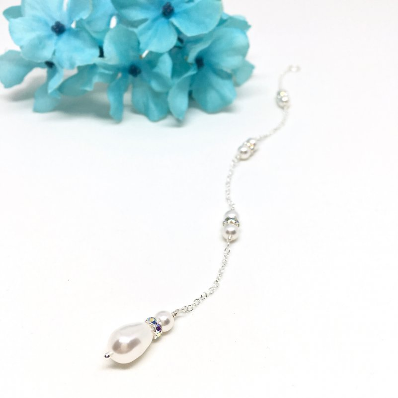 Teardrop Pearl Backdrop Necklace Attachment