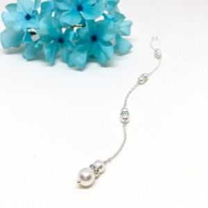 Bridal backdrop Jewelry Two Pearl Necklace Attachment