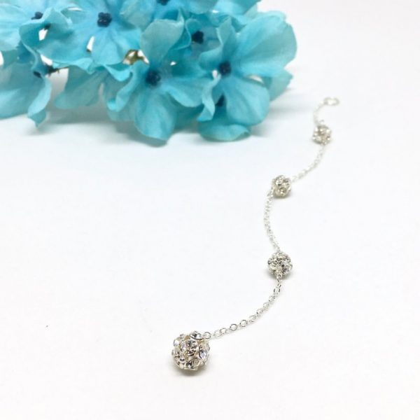 Back jewelry for wedding Pave Crystal Ball Back Necklace