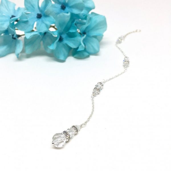 Front And Back Necklace Crystal Back Drop Necklace Attachment Swarovski