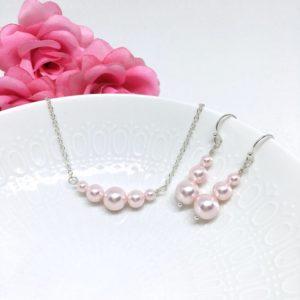 Blush Pink Graduating Pearl Bridesmaid Jewelry