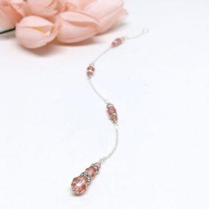 Swarovski Crystal Rose Peach Backdrop Attachment