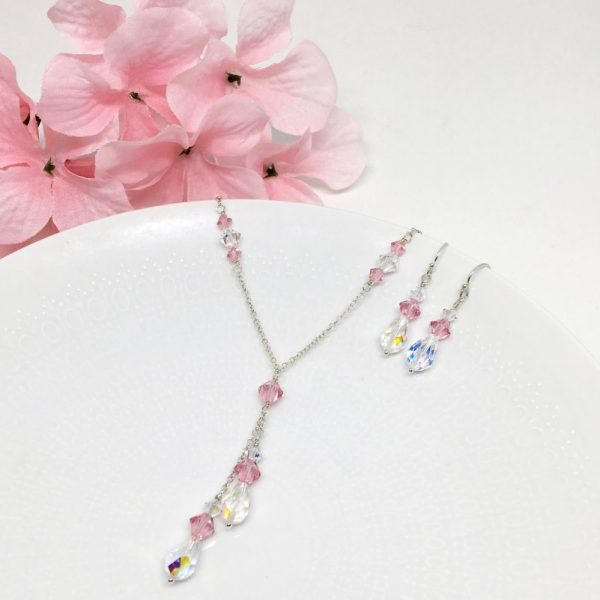 Pink Jewelry Bridesmaid Lariat Necklace