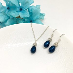 Teal Sparkly Bridesmaid Jewelry