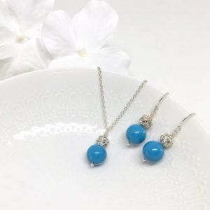 Sparkly Aqua Blue Bridesmaid Jewelry
