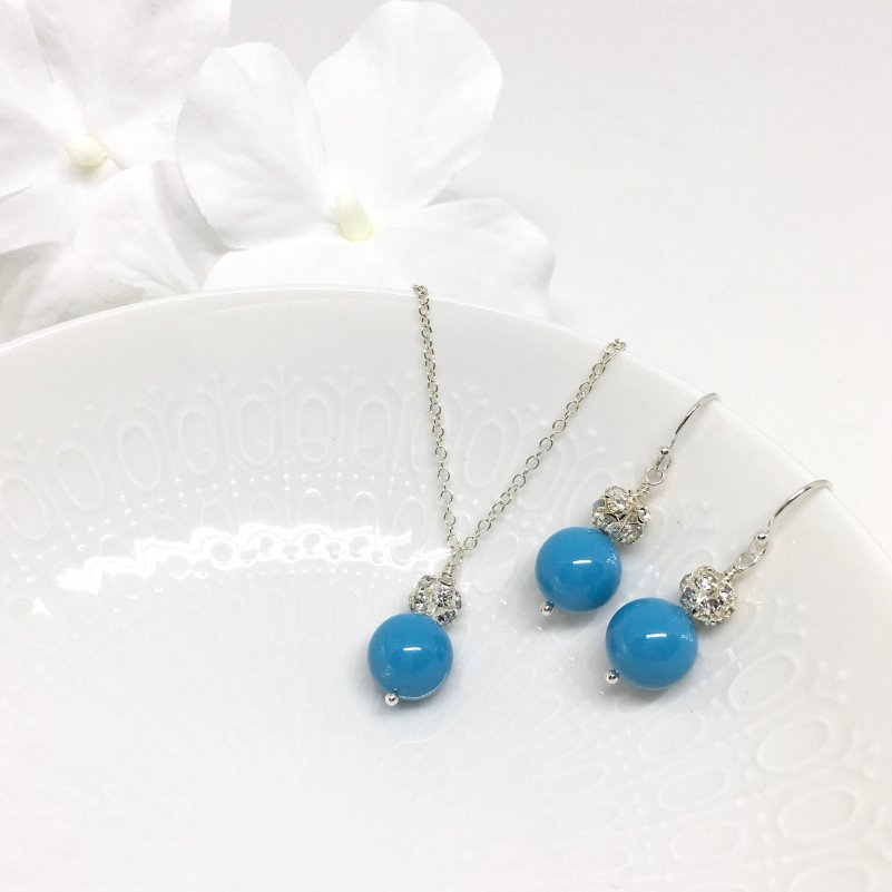 Turquoise Blue Bridesmaid Jewelry Beach Wedding Jewelry