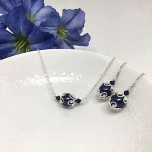 Navy Blue Bridesmaid Jewelry