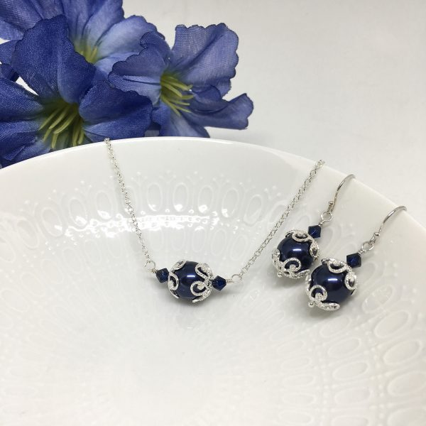 Navy Blue Jewelry For Bridesmaids