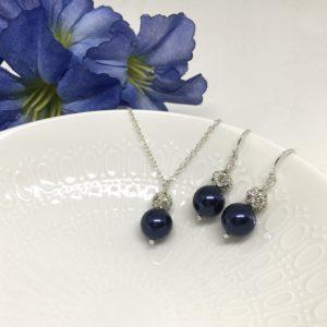 Midnight Blue Bridesmaid Jewelry
