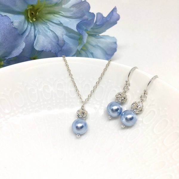 Ice Blue Bridesmaid Jewelry