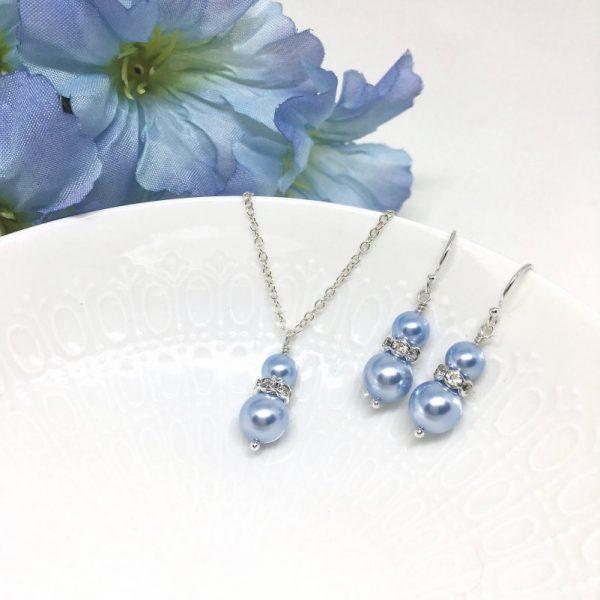 Pale Blue Bridesmaid Jewelry